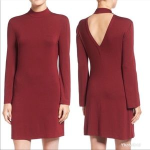 Rebecca Minkoff wine cursa dress large nwt red